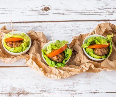 PCOS Meal Plan Lettuce Wrap Burgers | Smart Fertility Choices