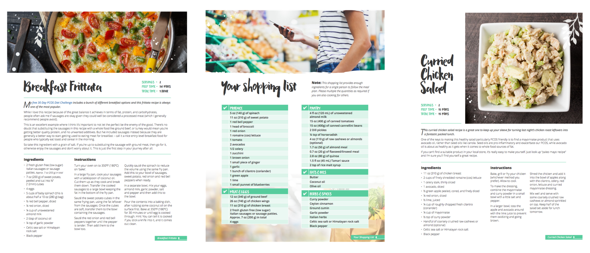 The 30 Day Pcos Diet Challenge Meal Plans Recipes Shopping Lists